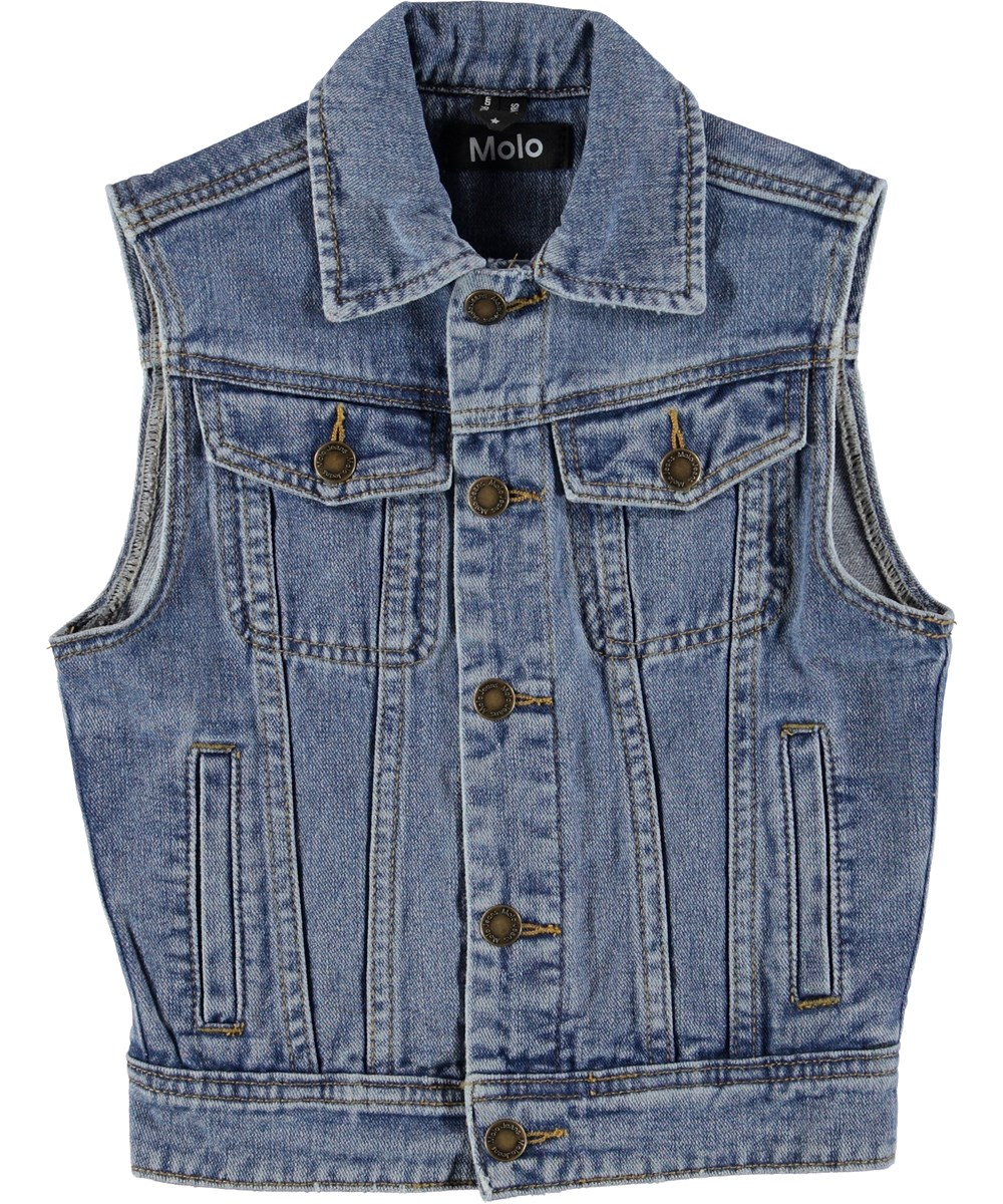 Harry - Stone Blue - Denim vest.