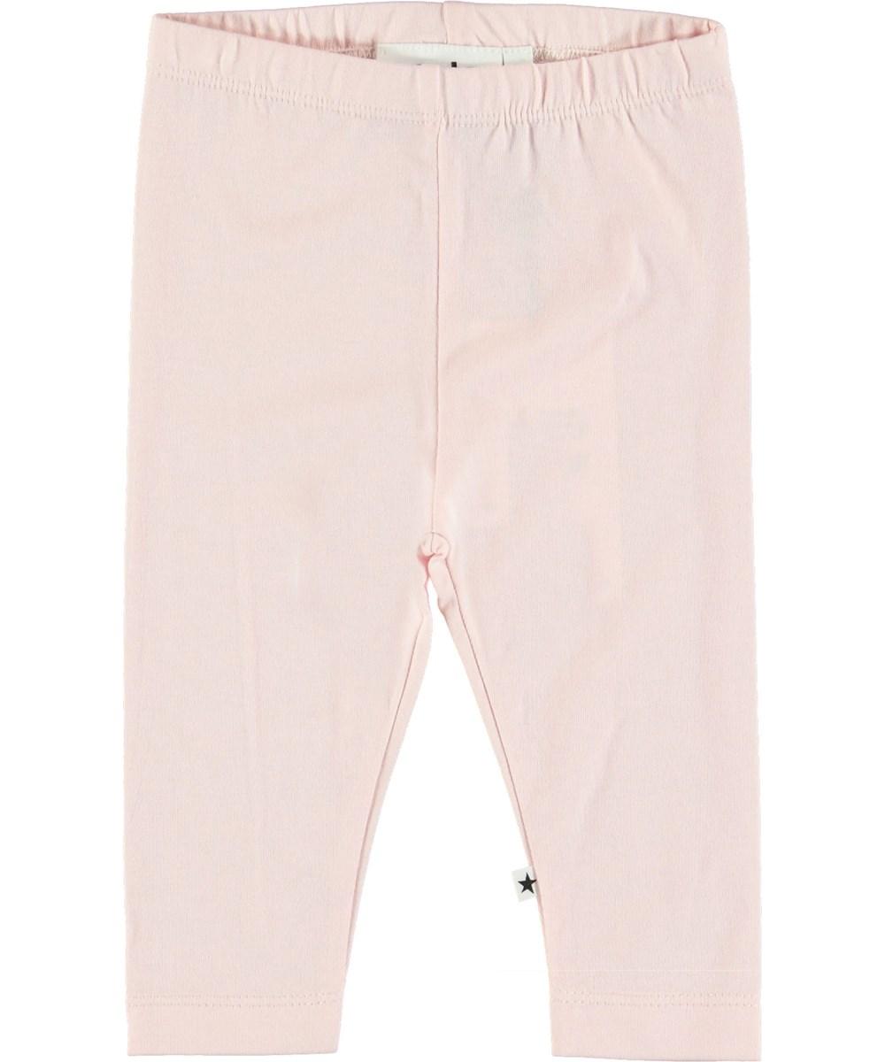 Nette Solid - Chalk Pink - Pink baby leggings.