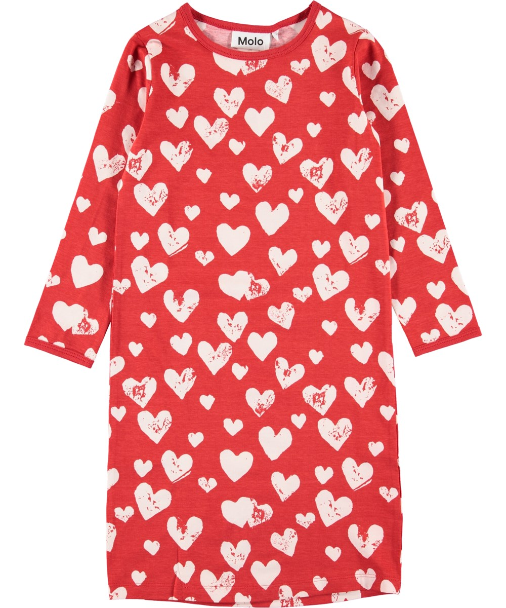 Lovely - Red Love - Red nightie with hearts.