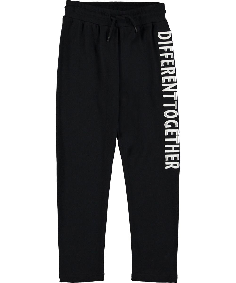 Aim - Black - Sweatpants black sporty trousers.