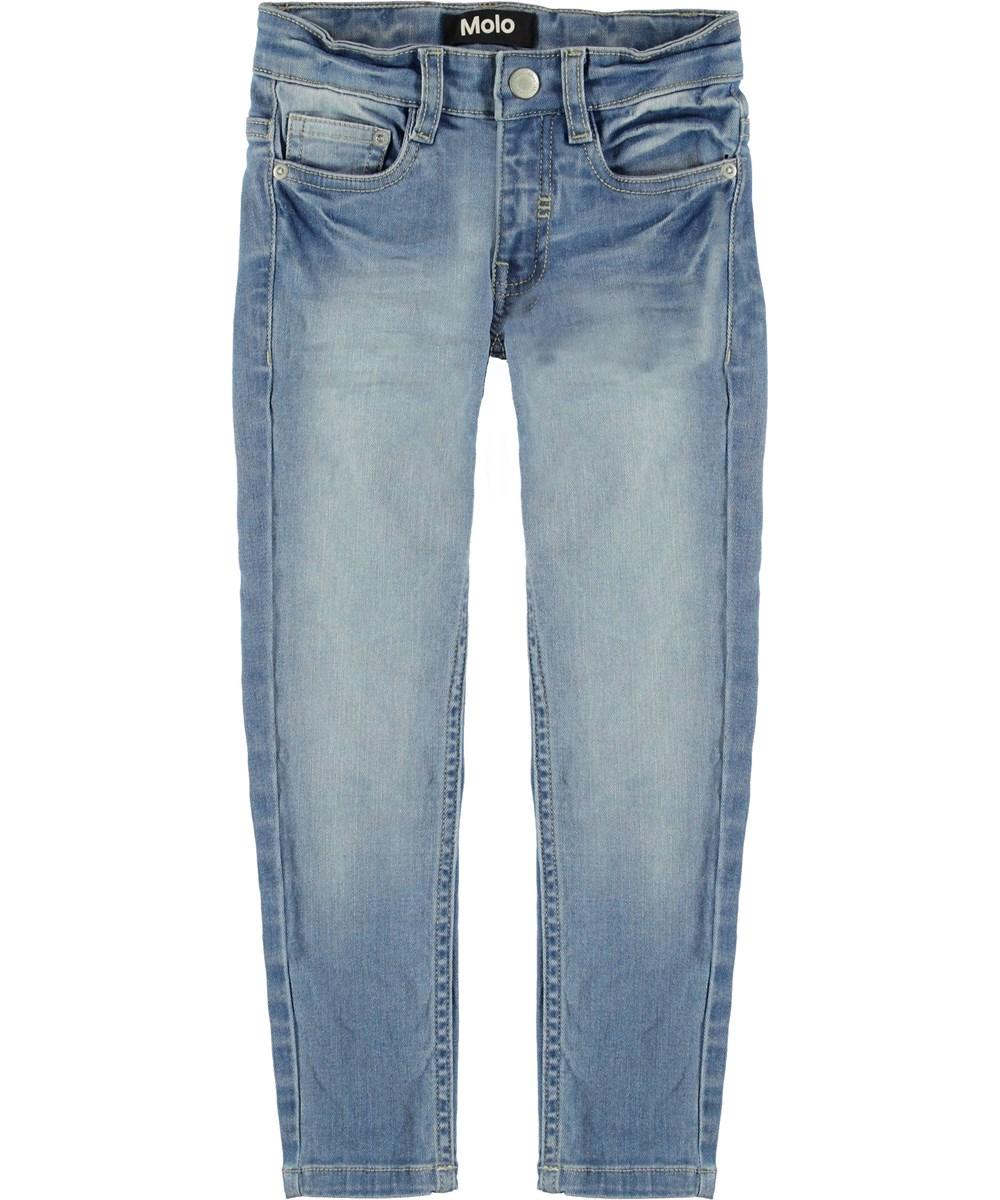 Aksel - Worn Denim - Light blue washed jeans.