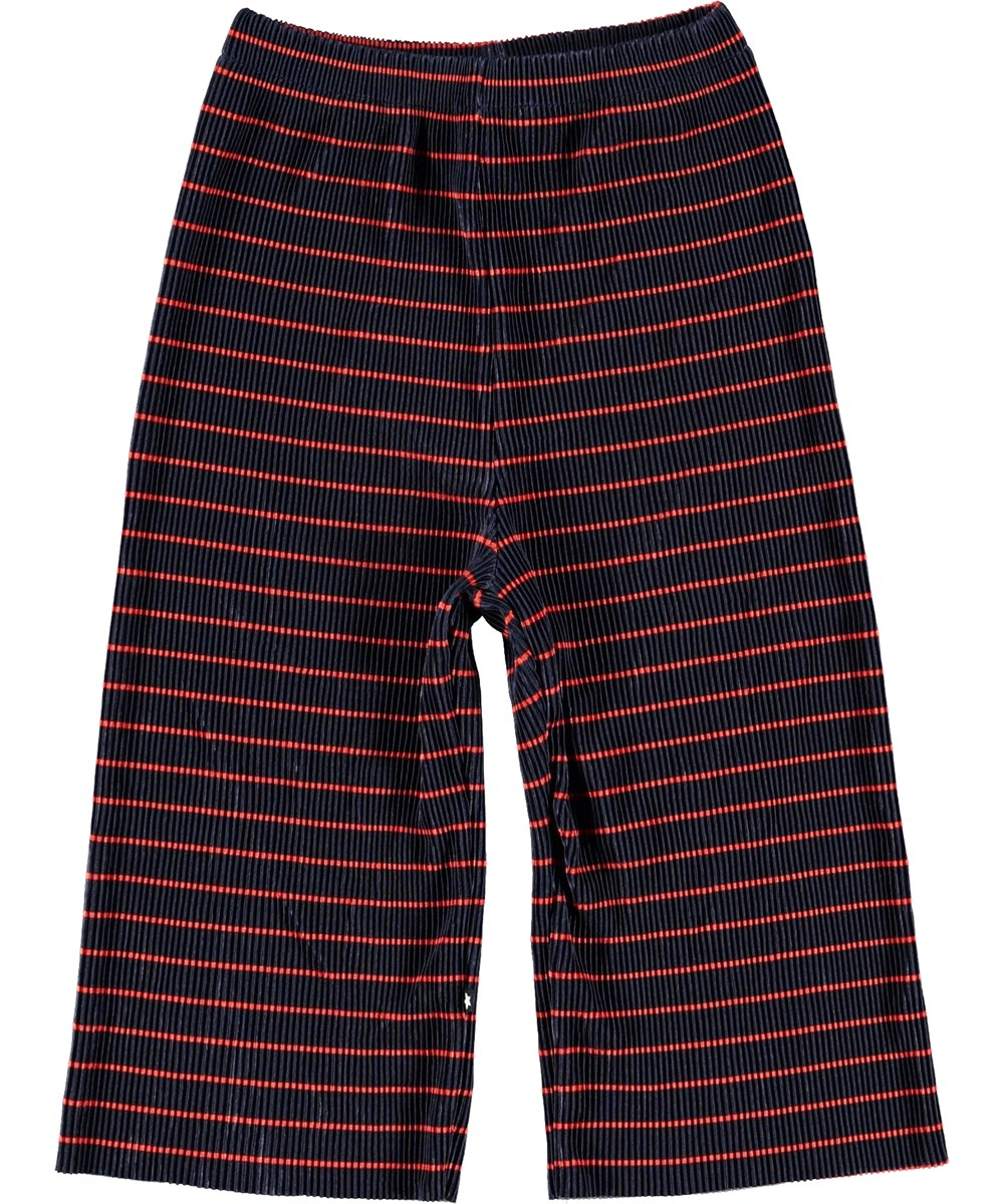 Aliecia - Navy Red Stripe - Culottes with stripes.