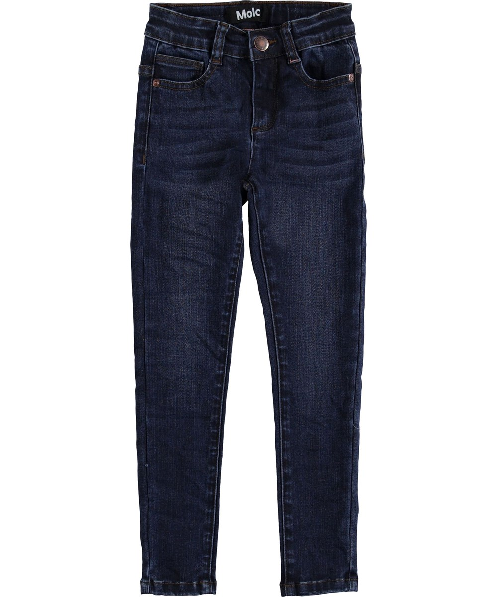 Angelica - Mid Blue Wash - Blue slim jeans.