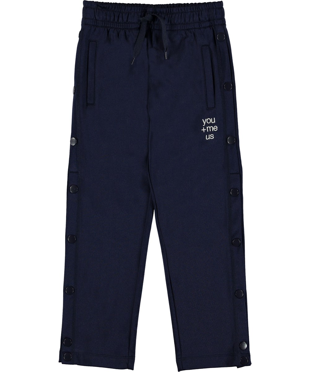 Angie - Classic Navy - Sporty blue track pants.