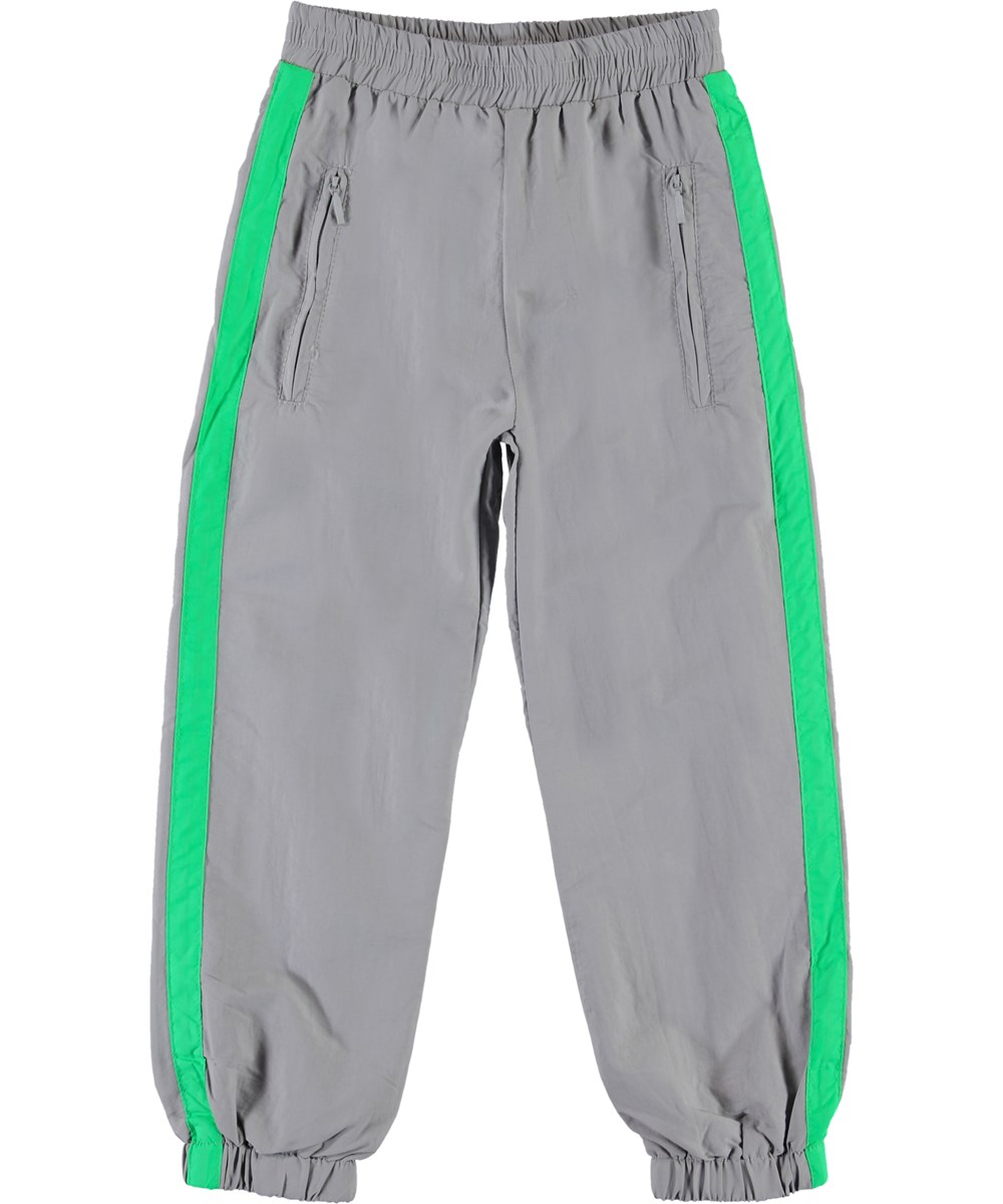 Avery - Ghost Grey - Track pants grey sporty trousers.