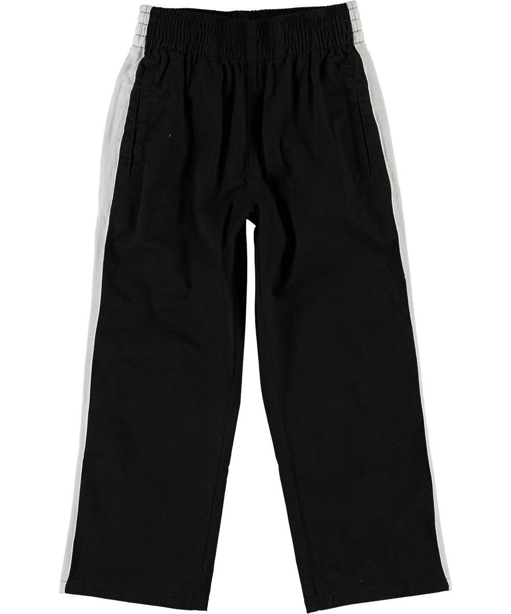 Avid - Black - Black pants with white stripe