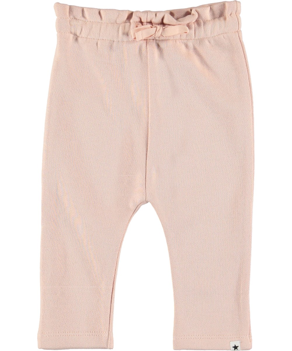 Sally - Petal Blush - Pink baby trousers.