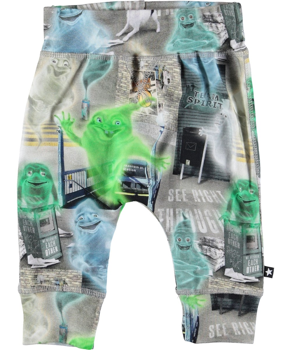 Sammy - Ghost City - Baby trousers with ghosts.