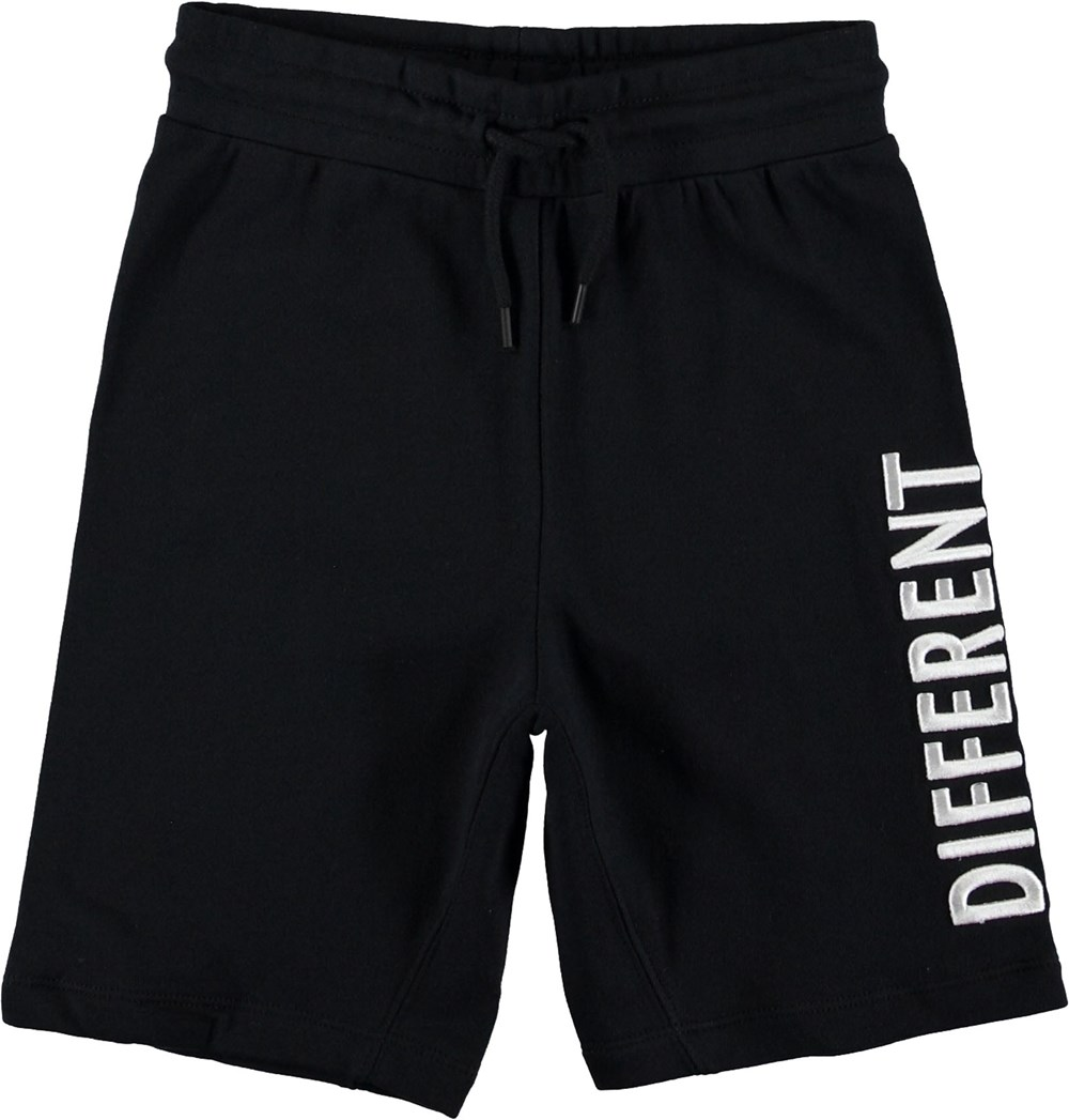 Aliases - Black - Black shorts with white text