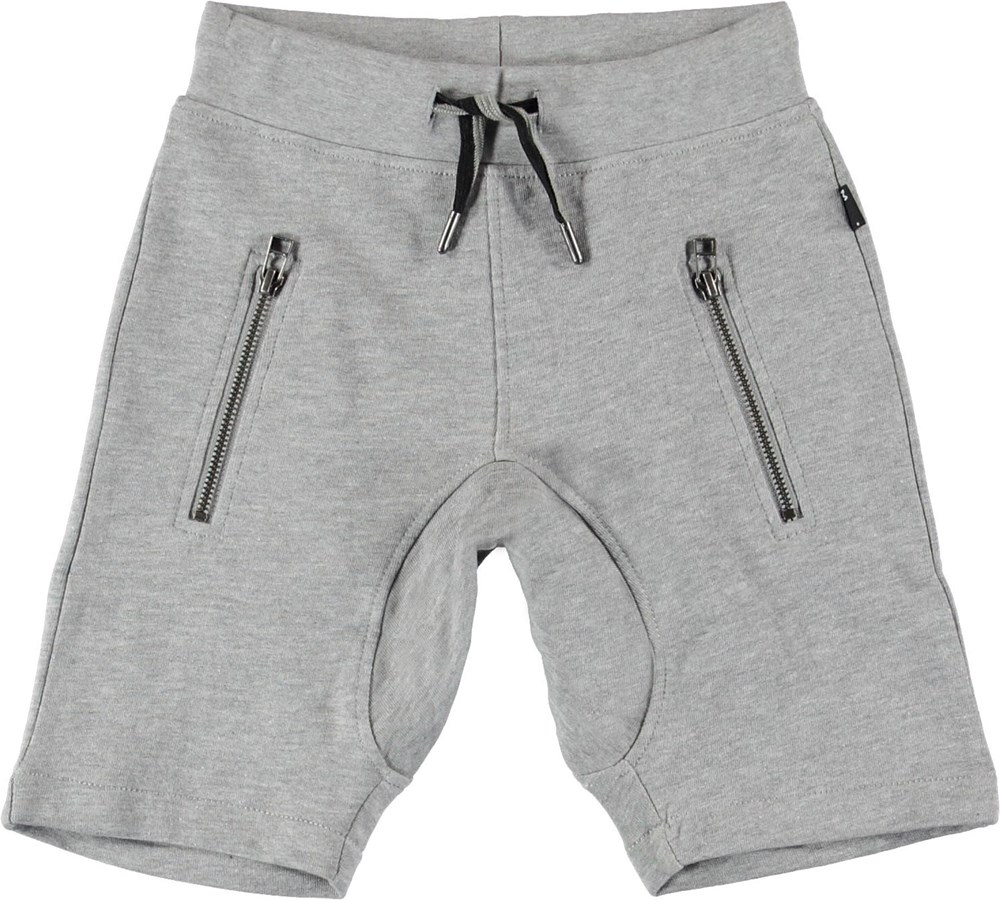 Ashtonshort - Grey Melange - Grå sporty shorts.
