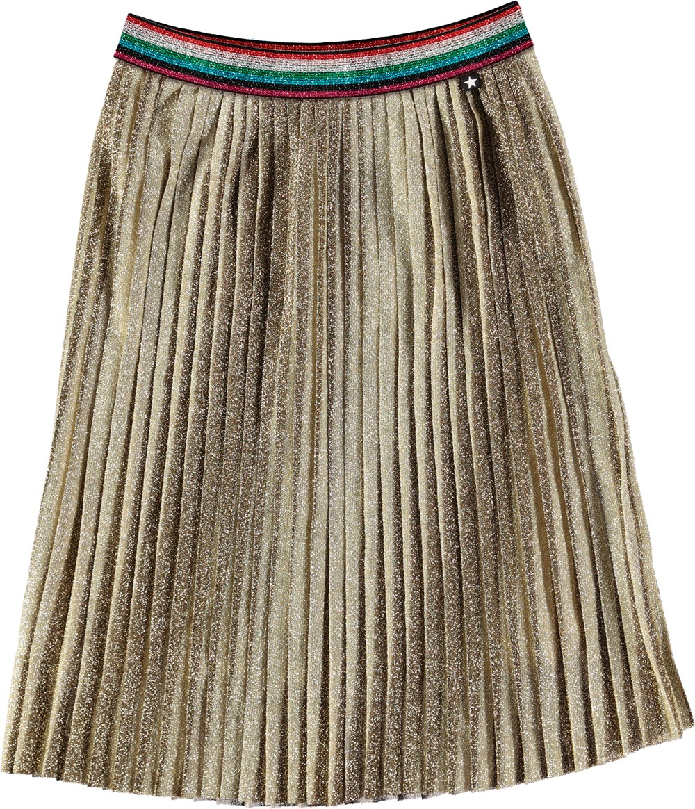 Bailini - Gold - Gold skirt with striped band.