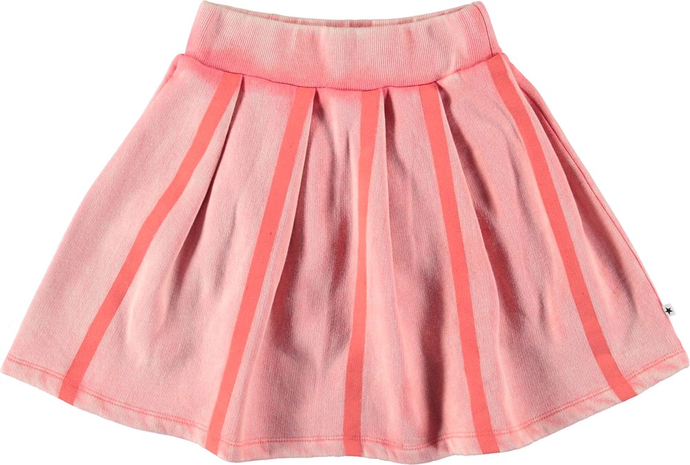 Baya - Sporty Coral - Pink skirt with stripes.