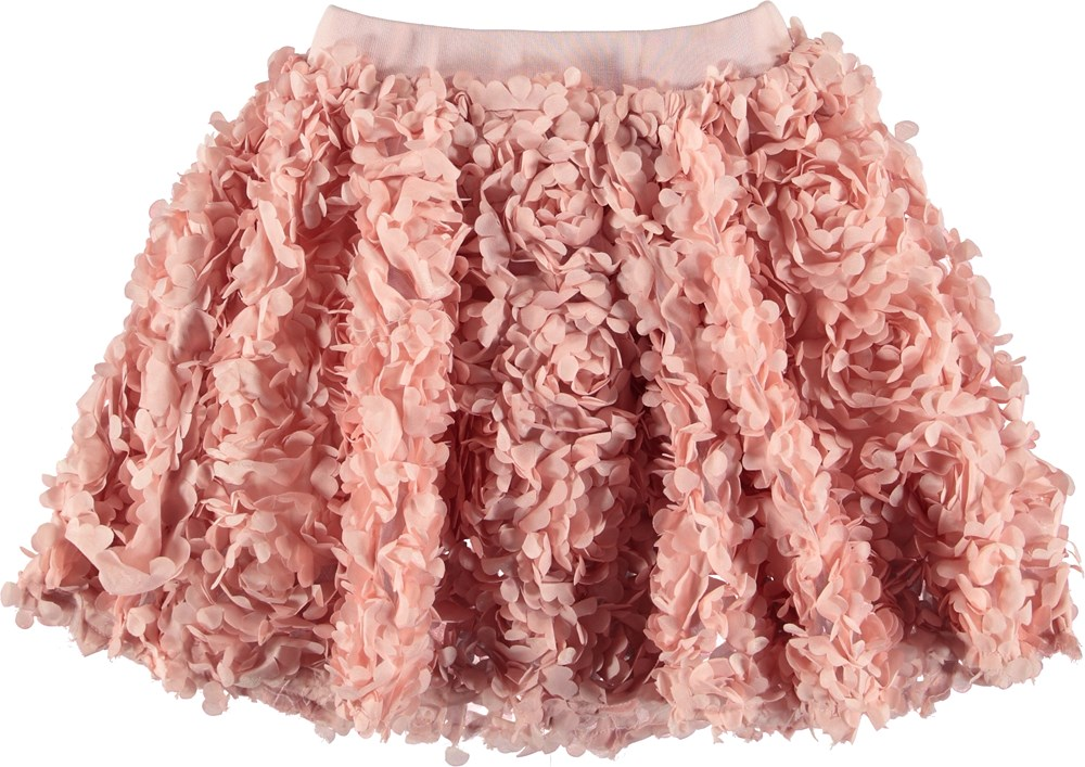Brickly - Chalk Pink - Pink skirt with flower leaves.