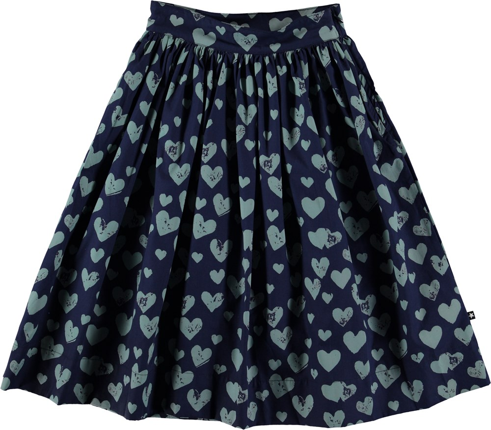 Brittany - Blue Love - Blue skirt with heart.