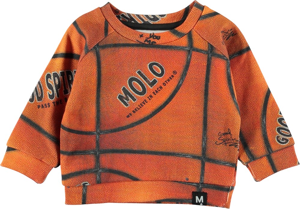 Dag - Basket Structure Small - Orange baby sweatshirt.