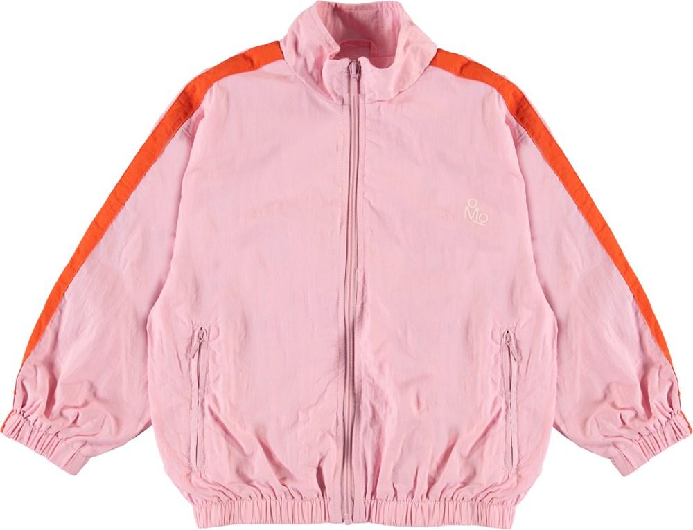 Mates - Chalk Pink - Sporty pink track jacket.