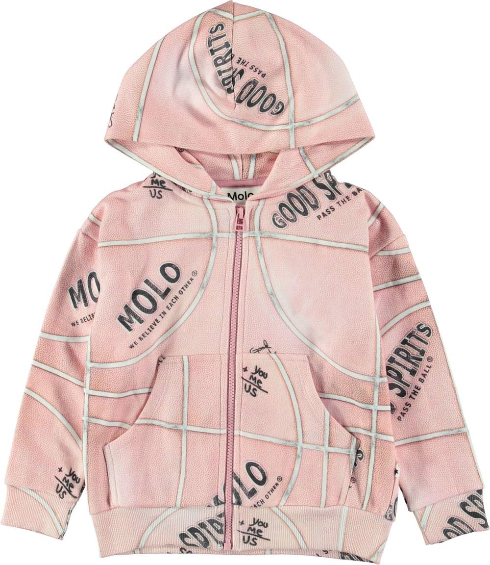 Mel - Pink Basketball - Pink basketball hoodie.
