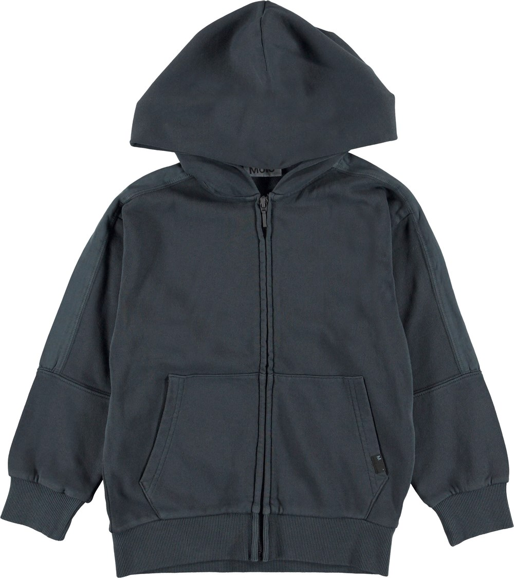 Mizzo - Carbon - Blue hoodie with zipper.