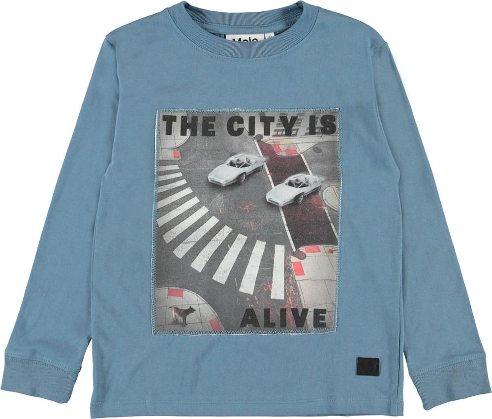 Renzi - City Alive - Bluse med spøgelser og basket.