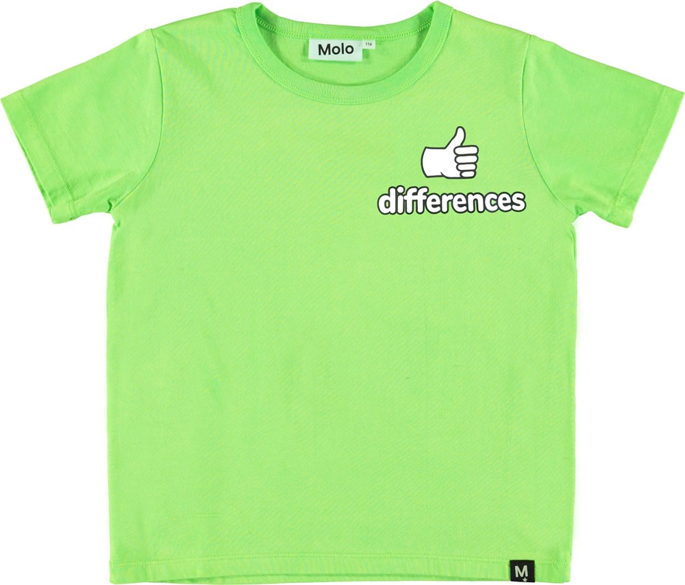 Raddix - Green Flash - Green t-shirt with difference.