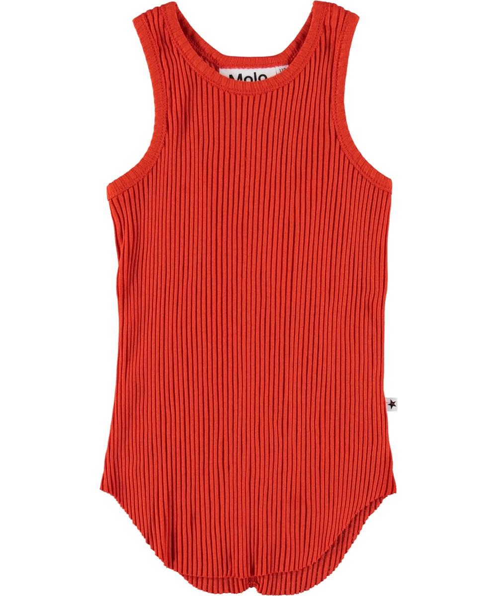 Roberta - Cherry Tomato - Red vest.
