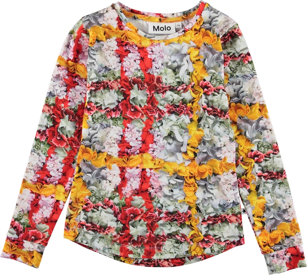Roxana - Checked Flowers - Top with flower plaid.