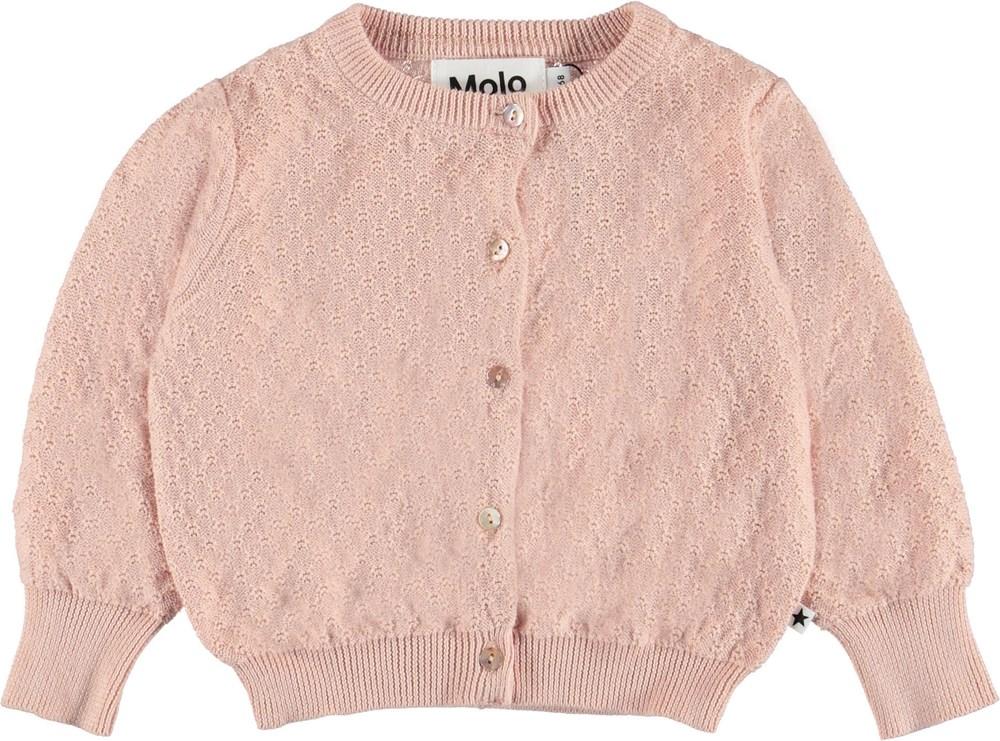 Ginny - Petal Blush - Baby cardigan i rosa.