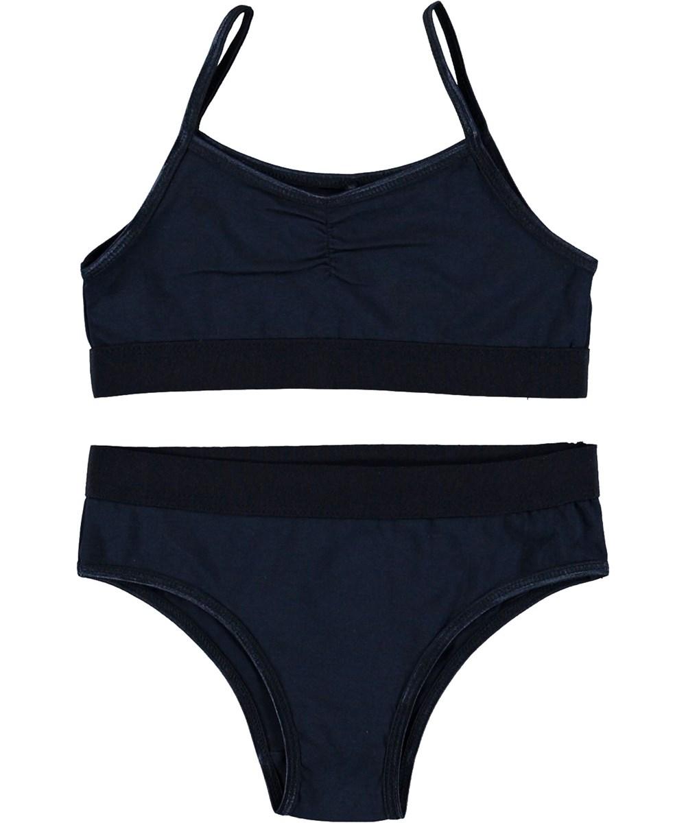 Jinny - Classic Navy - Dark blue underwear set.