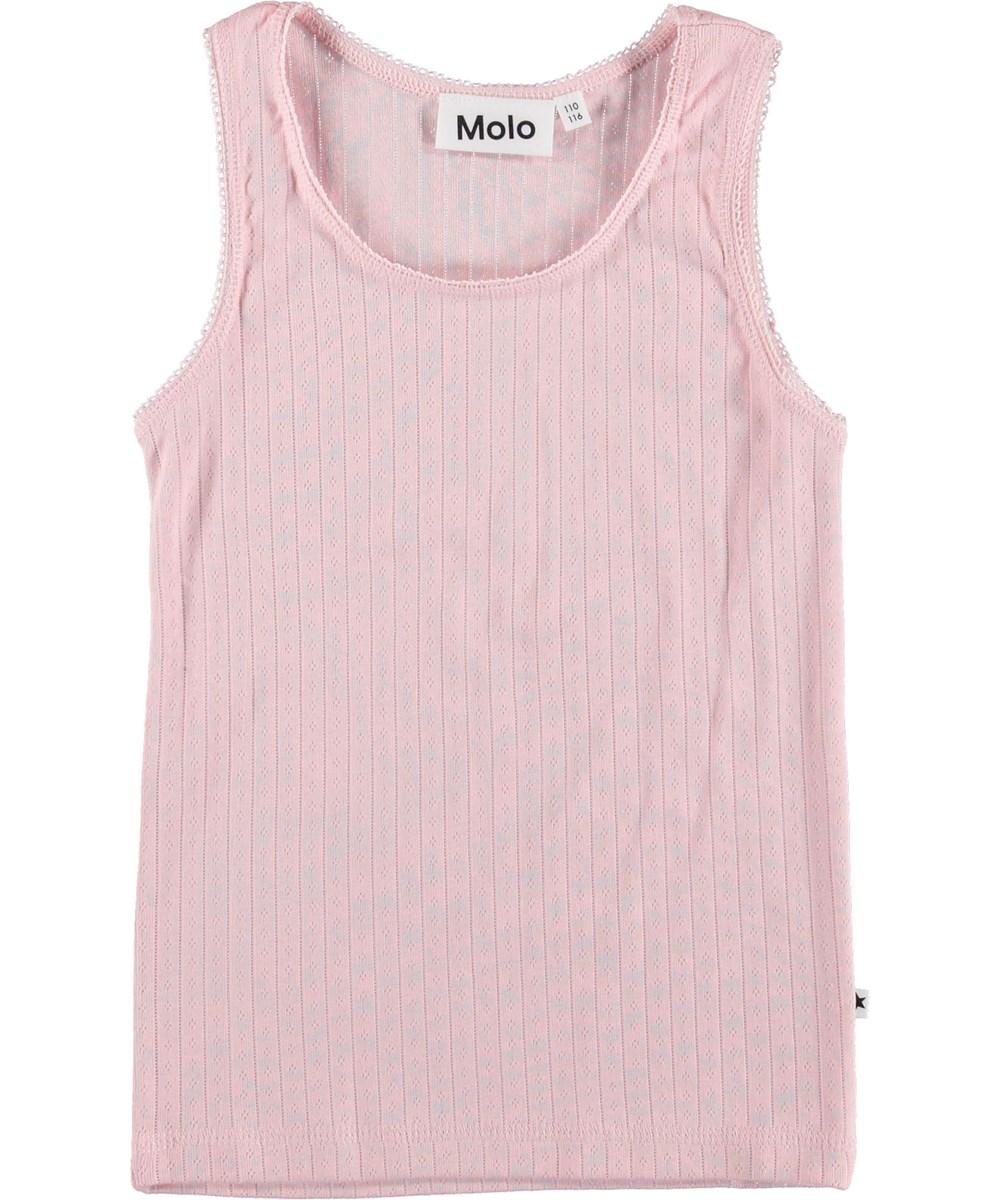 Jo - Chalk Pink - Rose vest.
