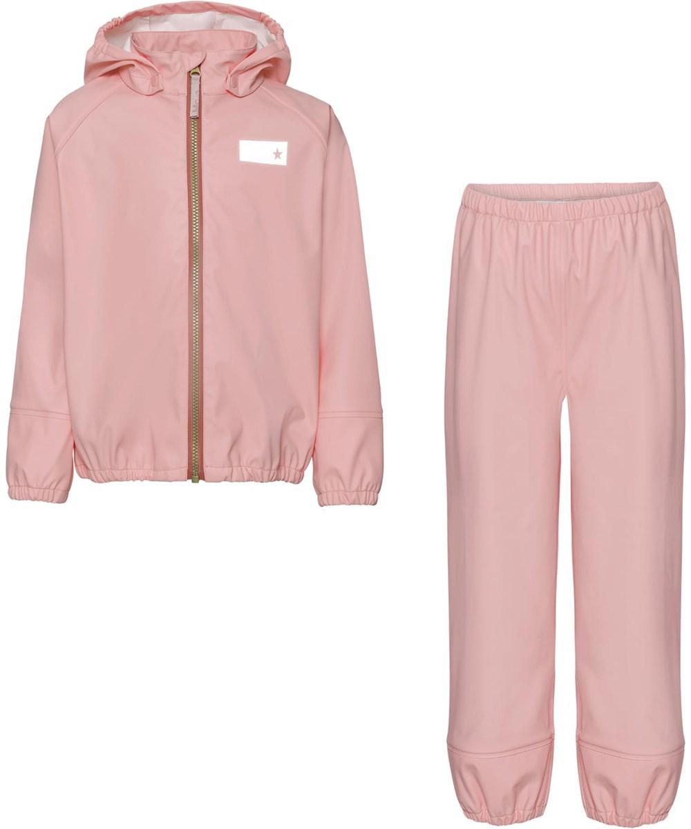 Zet - Rosequartz - Recyceltes rosa Regen-Set