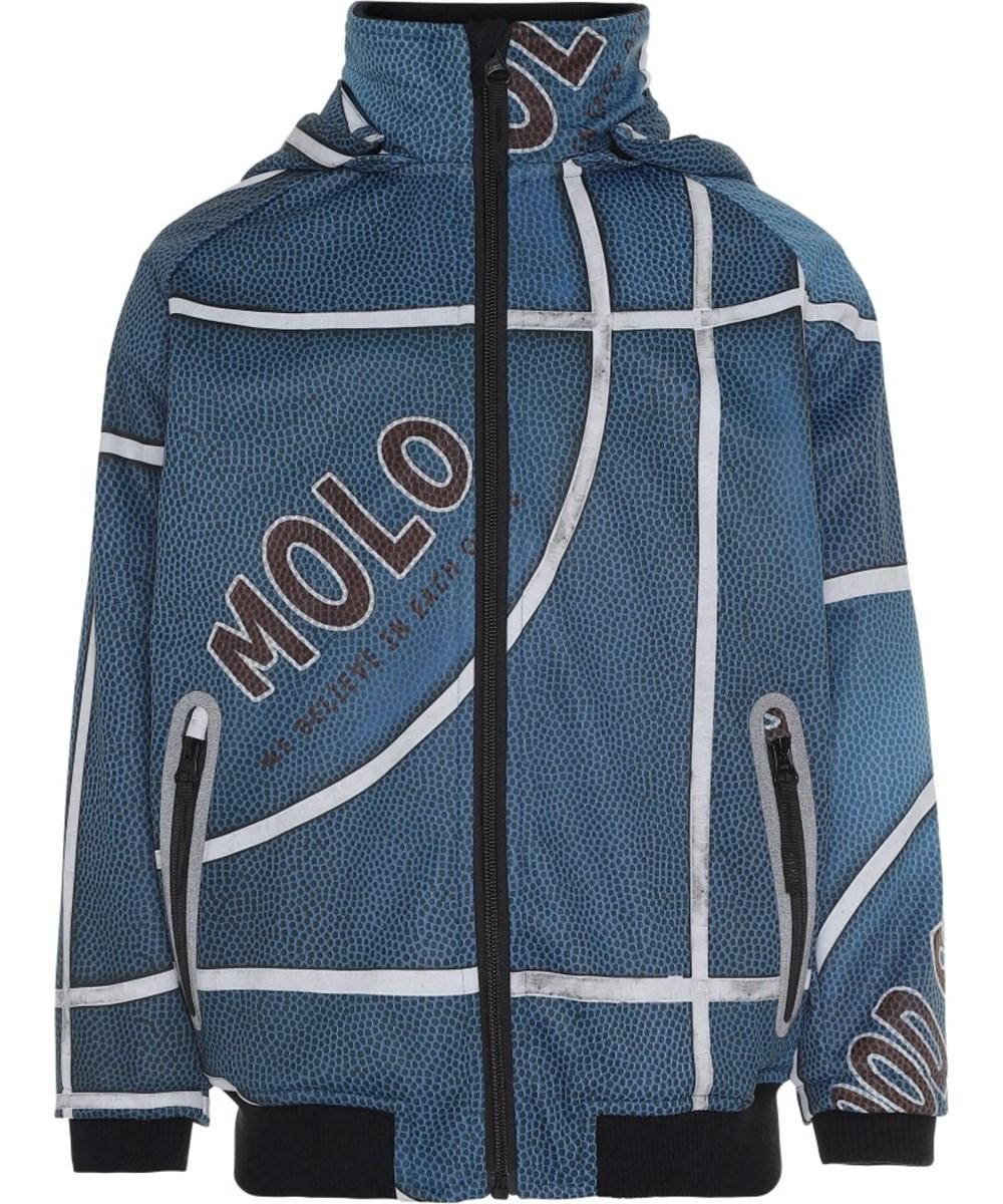 Cloudy - Blue Basket - Blue waterproof softshell basket jacket