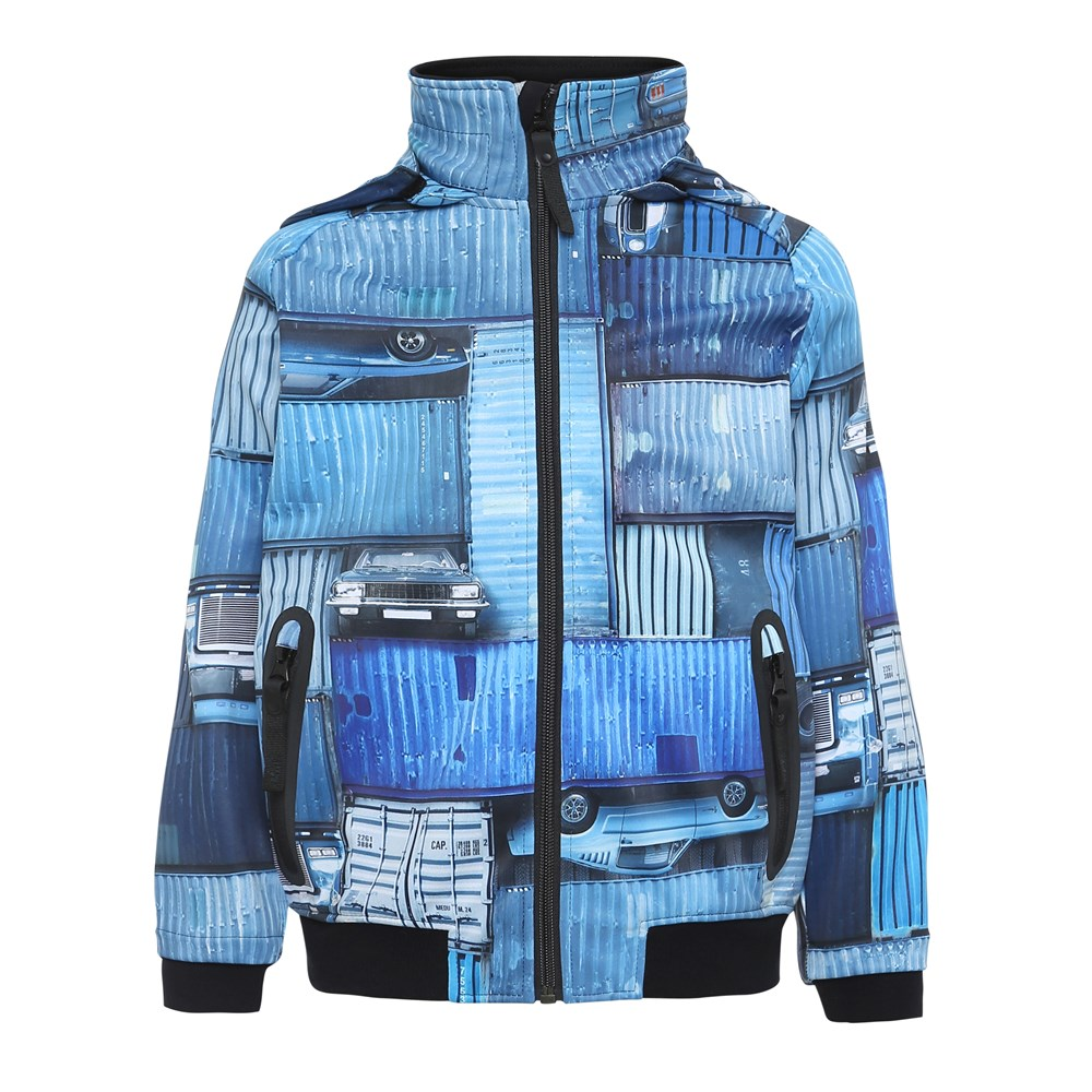 Cloudy - Blue Containers - Jacket