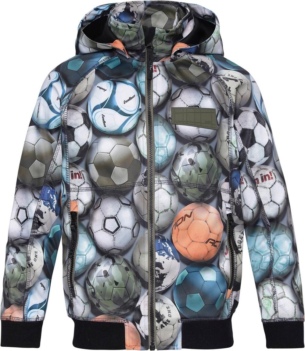 Cloudy - Football Camo - Waterproof softshell with football print