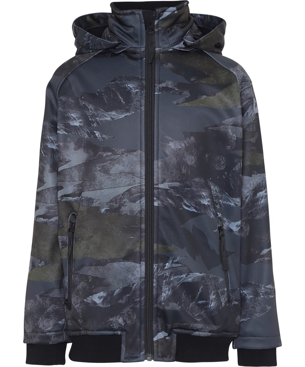 Cloudy - Mountain Camo - Sporty softshell jacket in camouflage