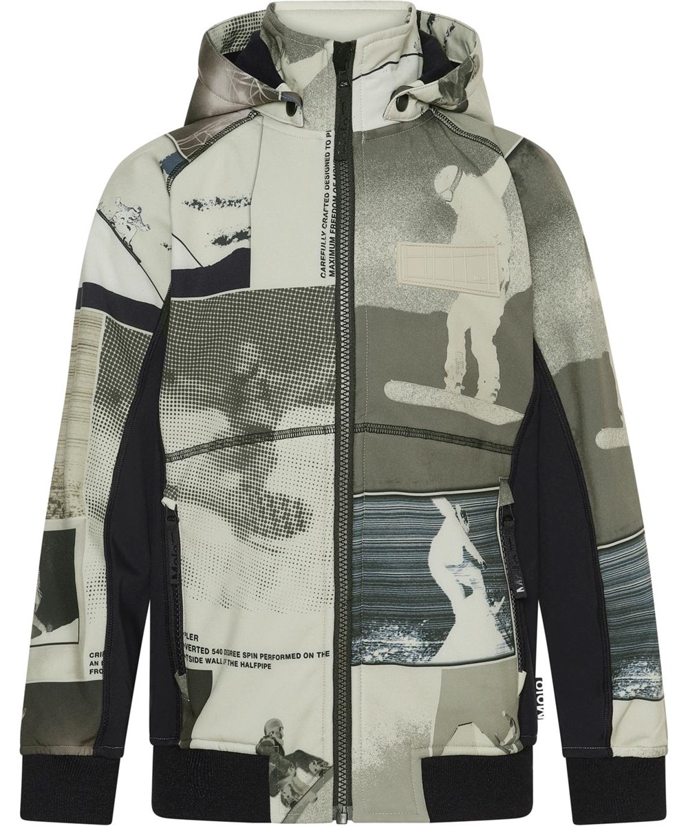 Cloudy - Screenshot - Beige softshell jacket with snowboarder print