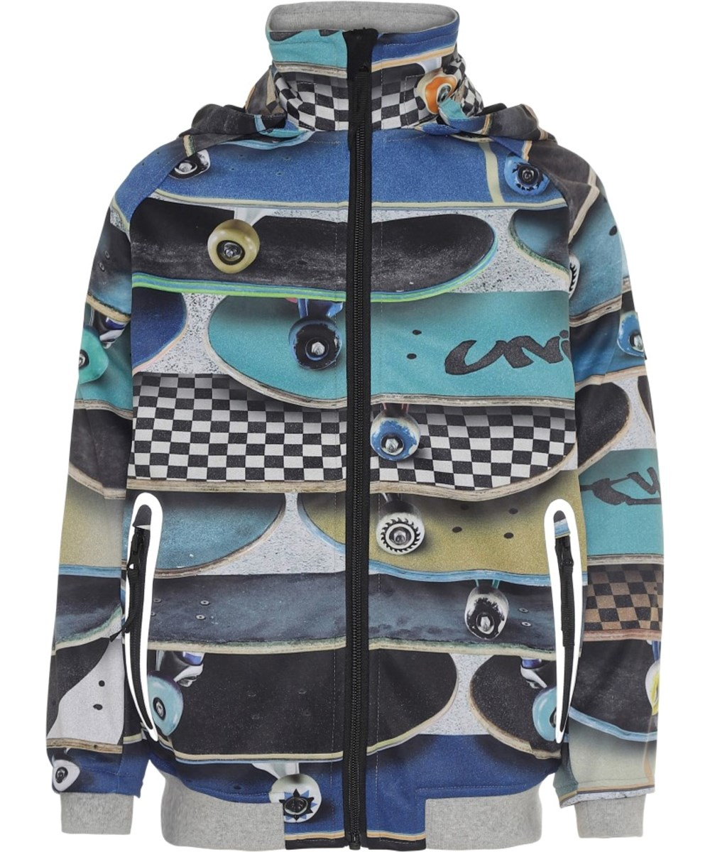 Cloudy - Stacked Boards - Waterproof, softshell jacket with skateboards
