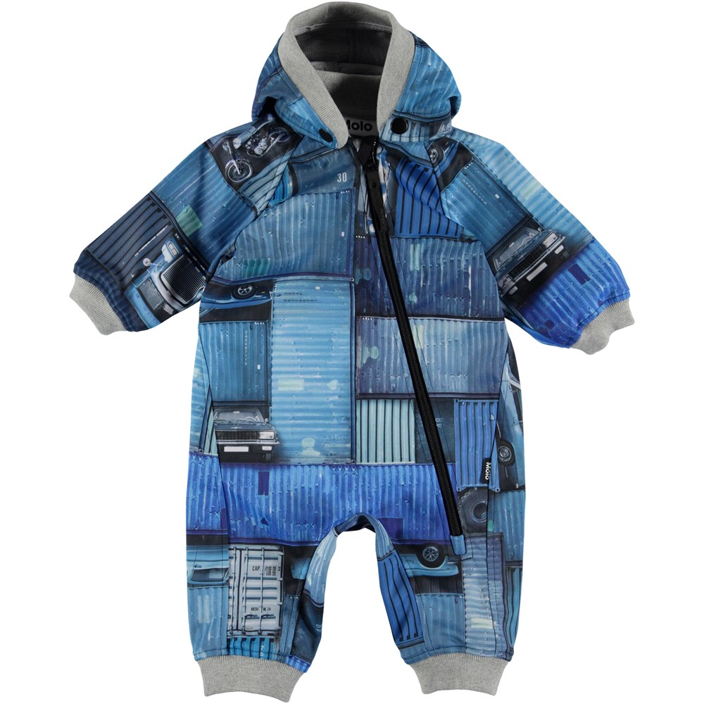 Hill - Blue Containers - Baby Suit - Blue Container
