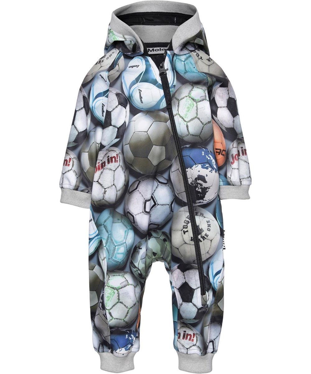 Hill - Football Camo - Softshell baby romper with football print