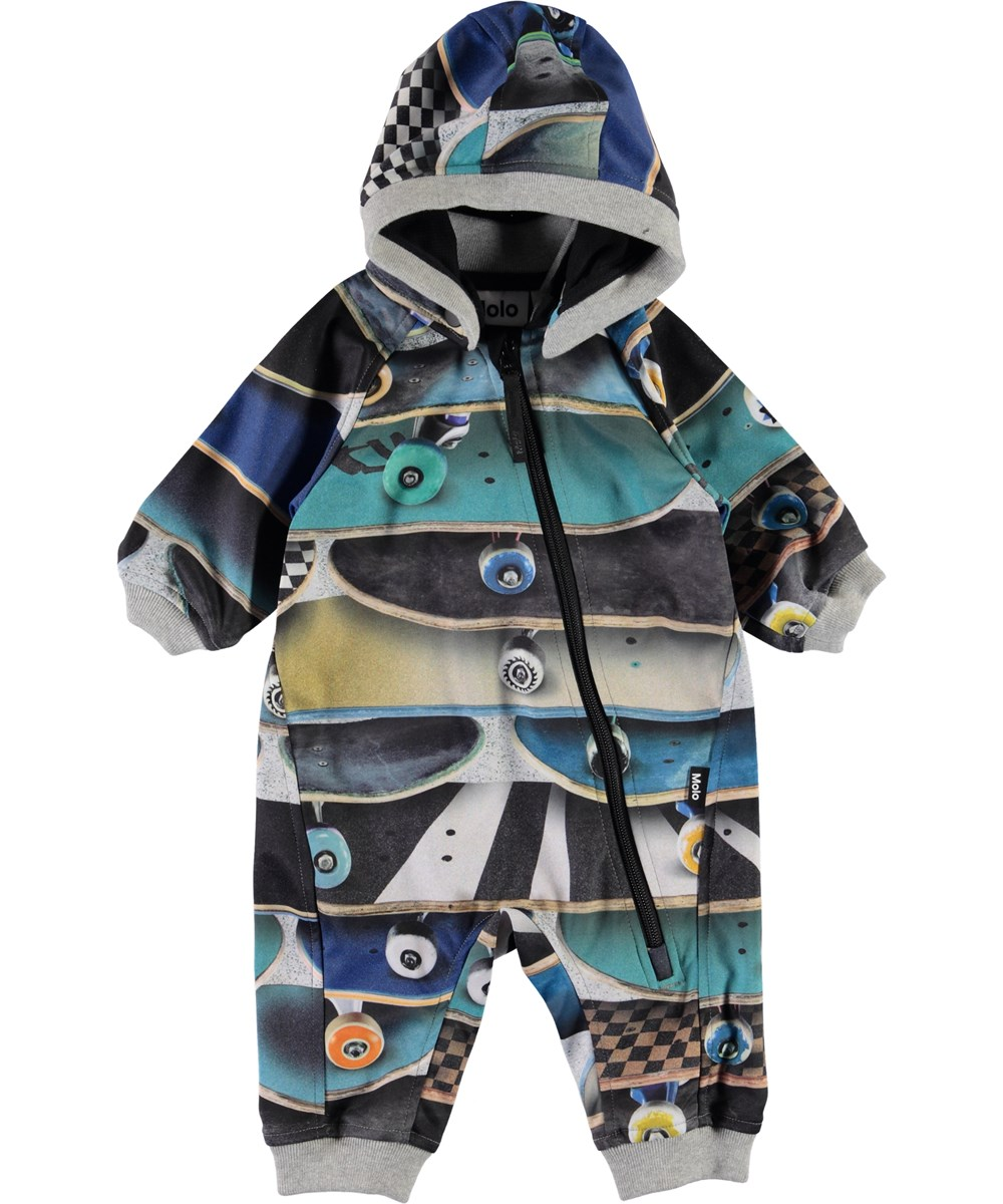 Hill - Stacked Boards - Baby waterproof softshell romper