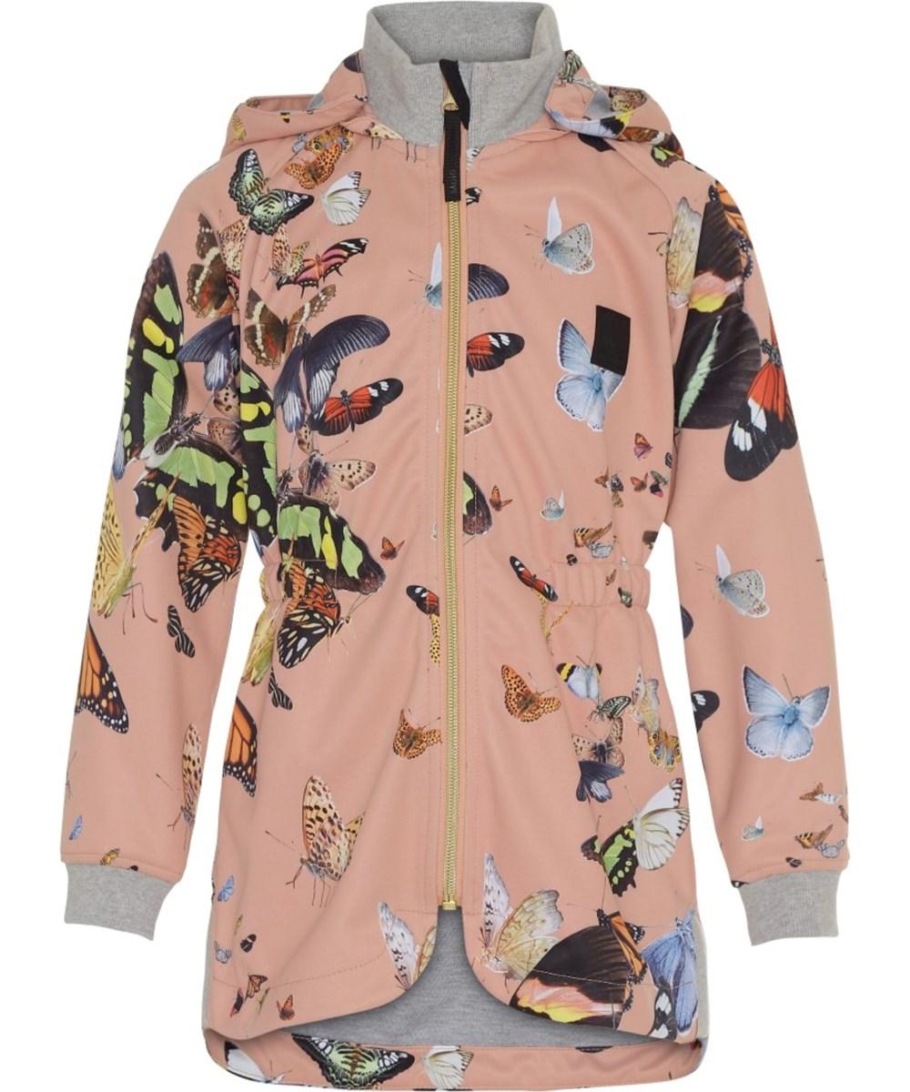 Hillary - Flying Butterflies - Waterproof, softshell jacket with butterflies