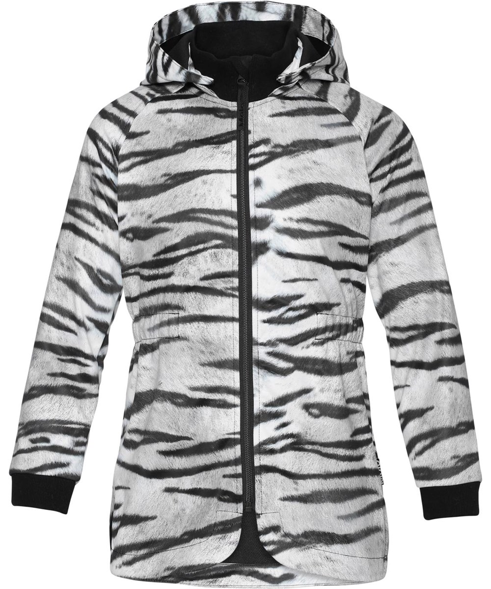Hillary - Tiger White - Parka softshell with tiger print