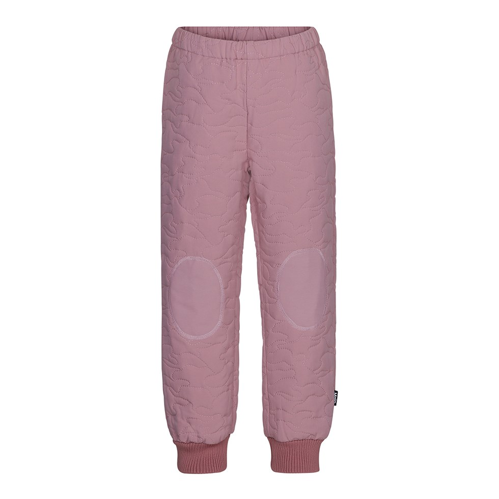 Hoti - Ash Rose - Sporty, rose coloured thermal trousers with star reflectors