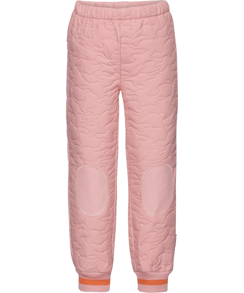Hoti - Rosequartz - Rose thermal trousers with red stripe