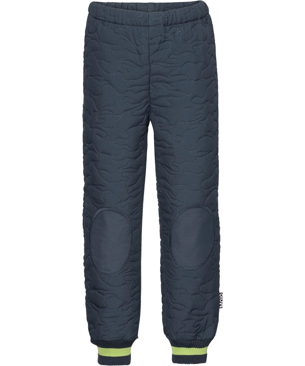 Hoti - Summer Night - Dark blue thermal trousers with green stripe