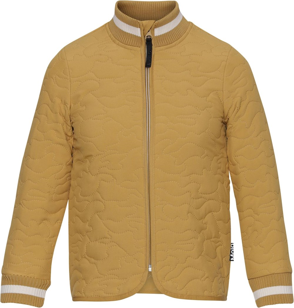 Husky - Honey - Golden thermal jacket with green stripe