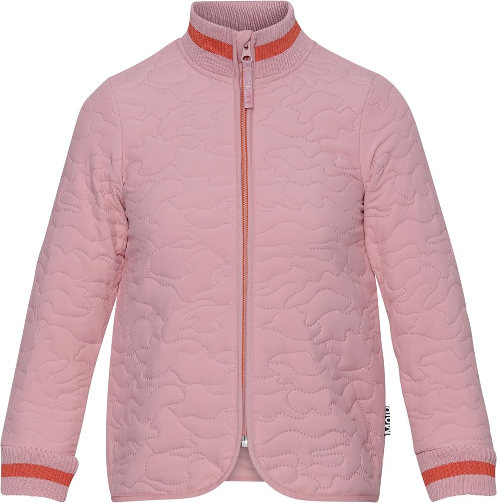 Husky - Rosequartz - Rose thermal jacket with green stripe