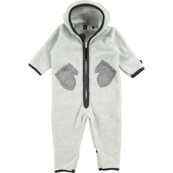 30861770d03 Udo - Grey Melange - grey baby polar fleece suit - Molo