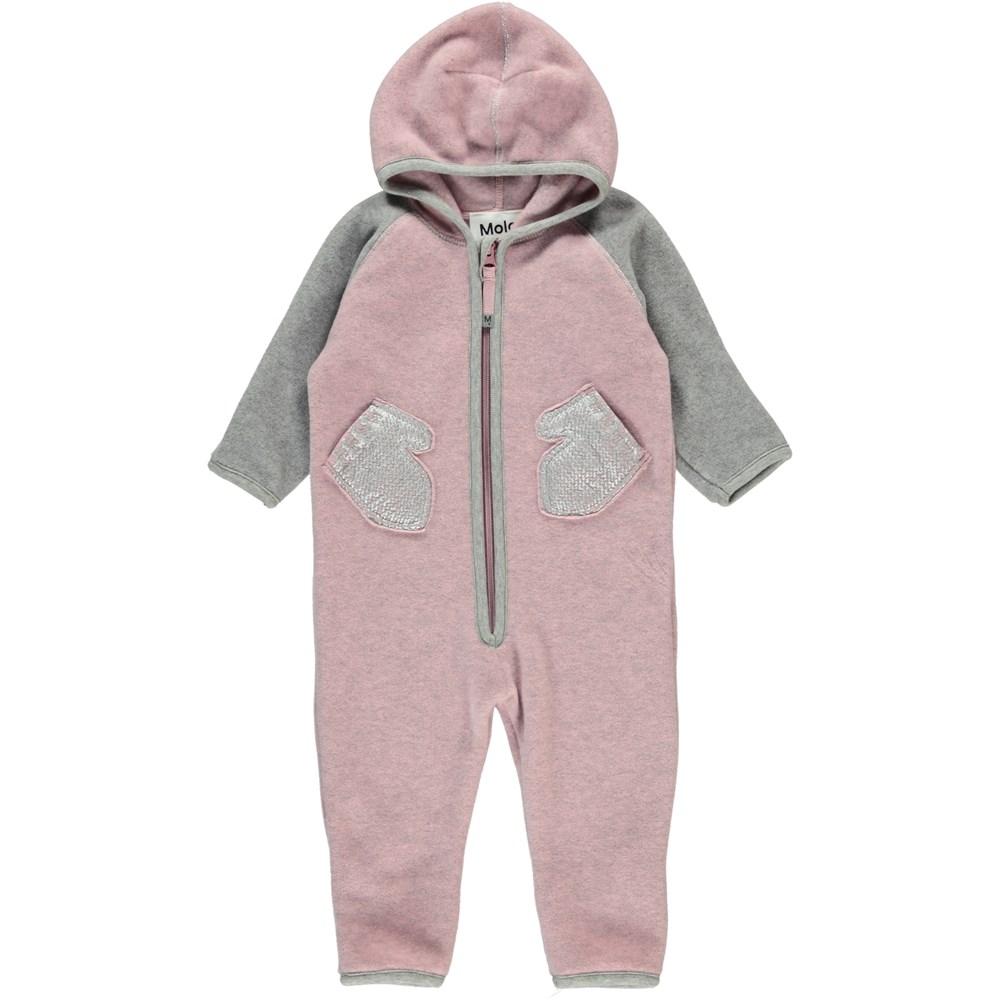 Udo - Pink Granite - Baby Fleece Romper