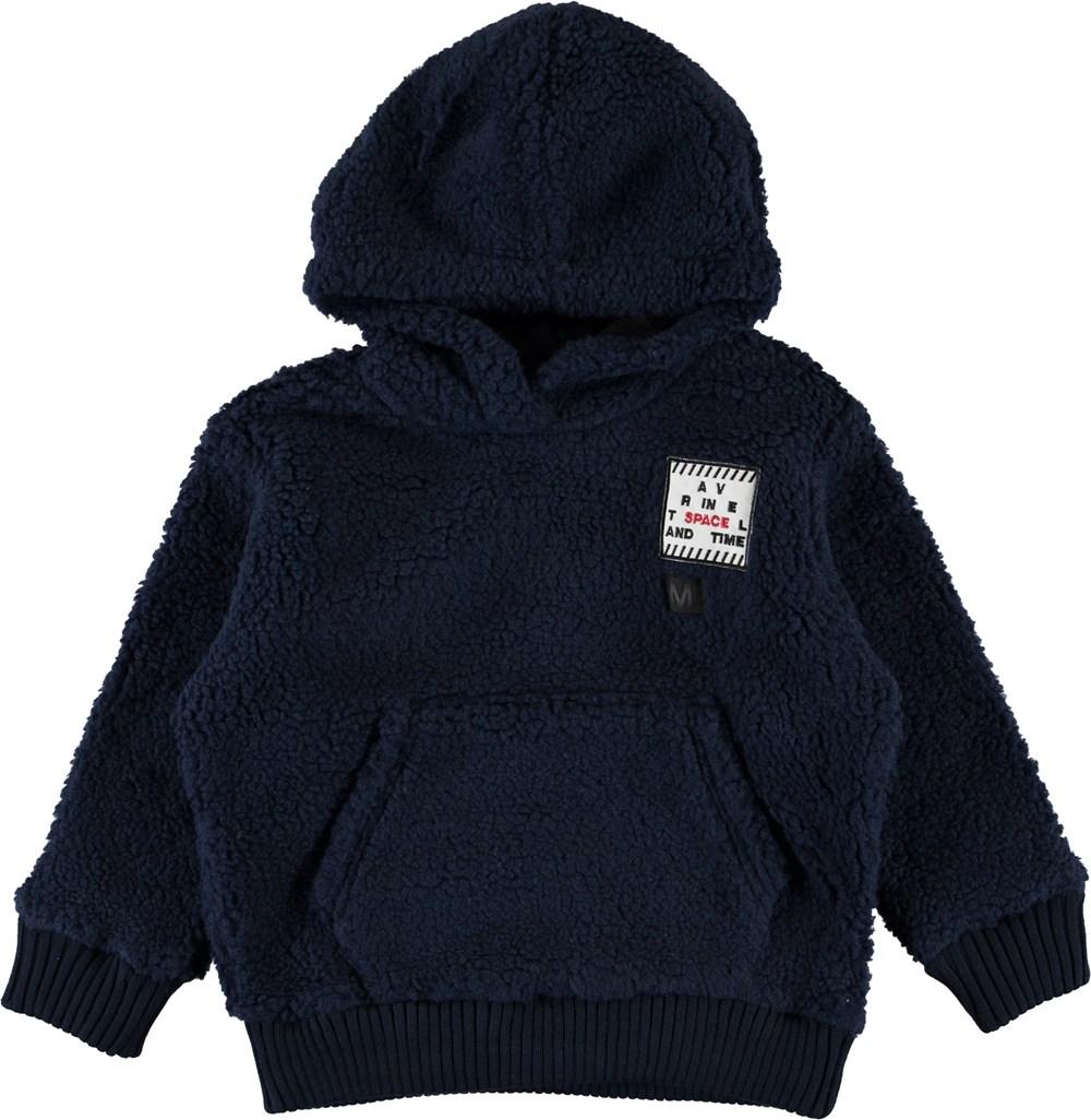 Ugga - Infinity - Navy fleece hoodie