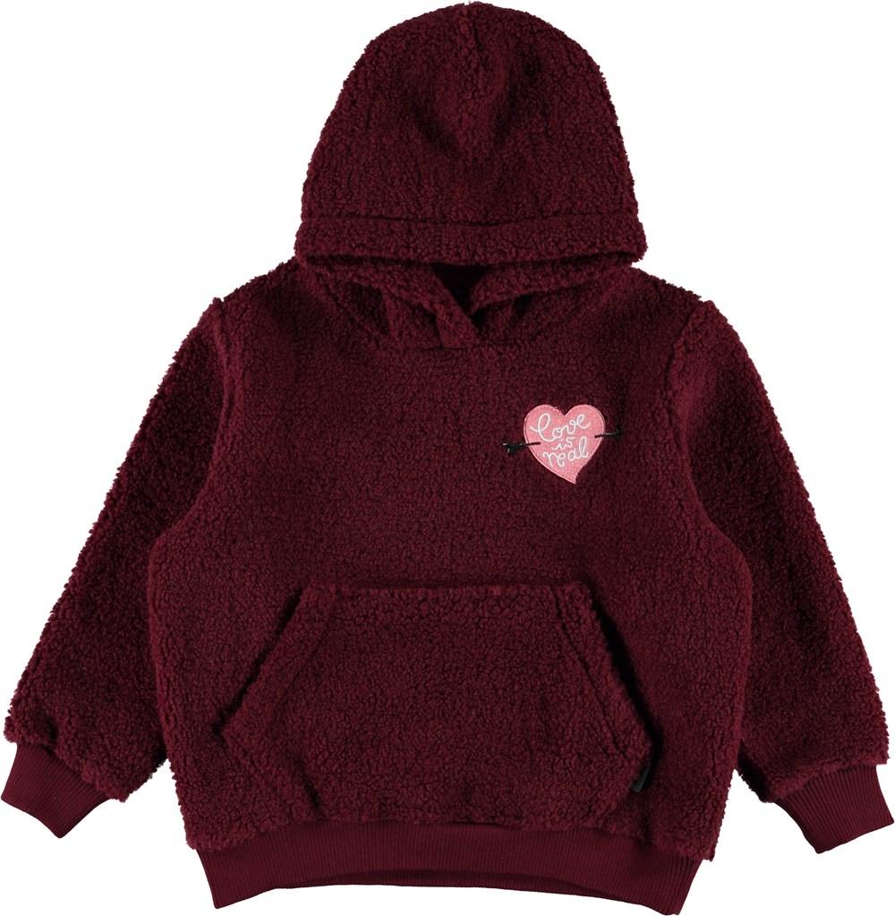 Ugga - Wild Madder - Bordeaux fleece hoodie
